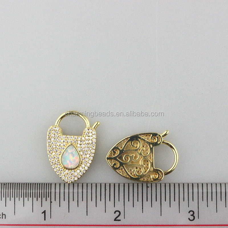 CH-LHP0304 Fashion cz clasp,charm jewelry,diy necklace/earring jewelry accessories