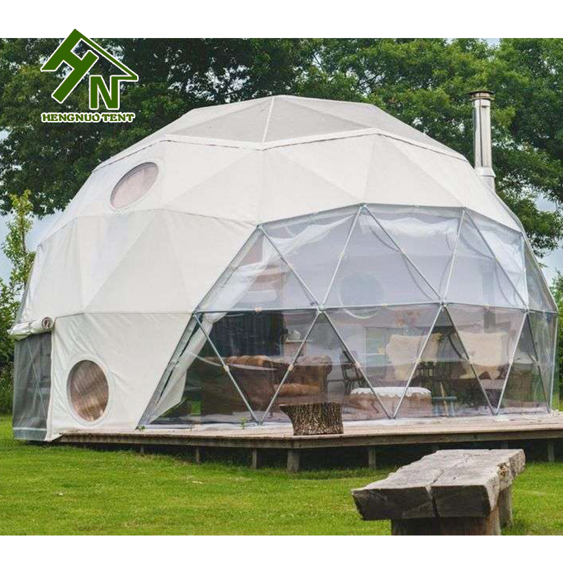 Outdoor dome house winter 50 square meters glamping tent with doors