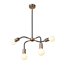 Nordic contemporary luminaire 4 light hanging drawing room bedroom E27 chandelier pendant lamp