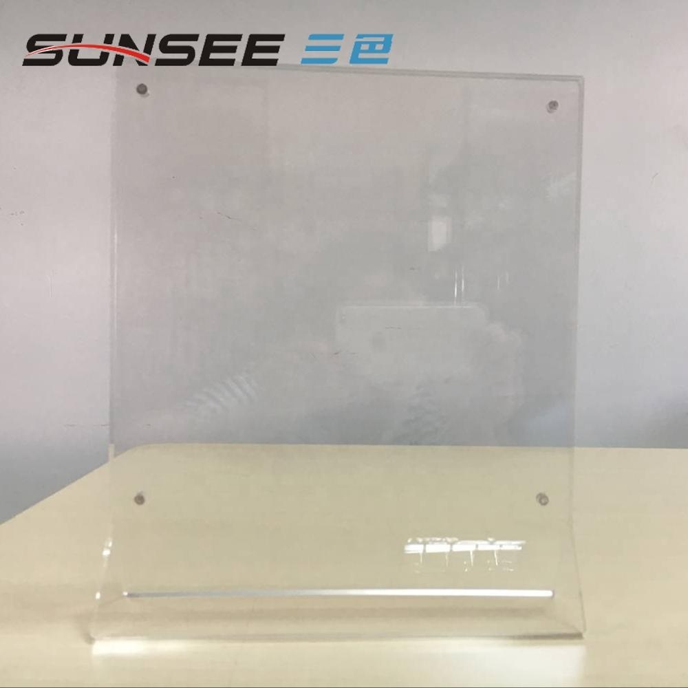 Custom clear perspex plastic price card acrylic sign holder table top menu display for restaurant