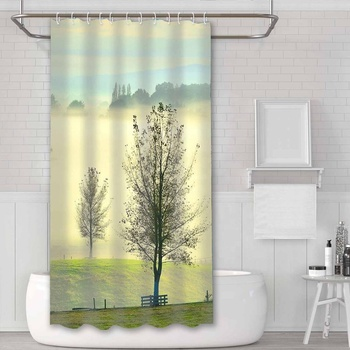 Polyester OEM 84 inch shower curtain for wholesale