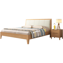 Modern luxury classical king size solid wood bed for bedroom <strong>furniture</strong>