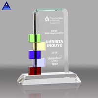 Unique Customized Crystal Plaque And Award Gift Crystal Plaque Gift Set For Awards