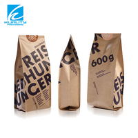 Eco-friendly custom printed side gusset kraft paper bread packaging