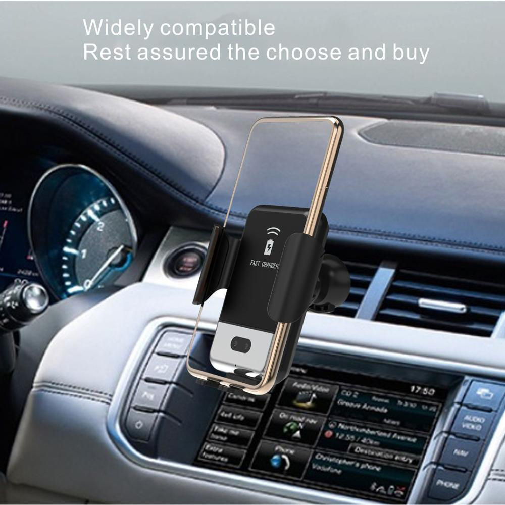 2 in1 Qi Wireless Car Charger for iPhone X XS XR for Samsung S9 10W Quick Wireless Charger Car Mount Mobile Phone Holder