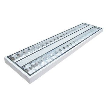 office hall way motion sensor emergency battery 600X600 mm grille lamp recessed square ceiling t8 led troffer light