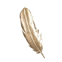 Mayco Large Art and Craft 3d Wall Metal Feather Shape