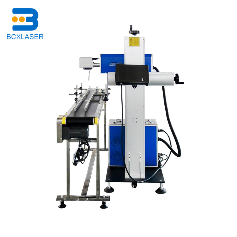 High Speed Flying CO2 laser marking machine for PET bottle,30 watt co2 flying laser marking machine