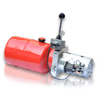 24volt 20mpa semi-electric stacker truck mini hydraulic power pack with hand valve