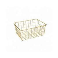 free sample 549-97 popular newest gold wire mesh metal storage basket