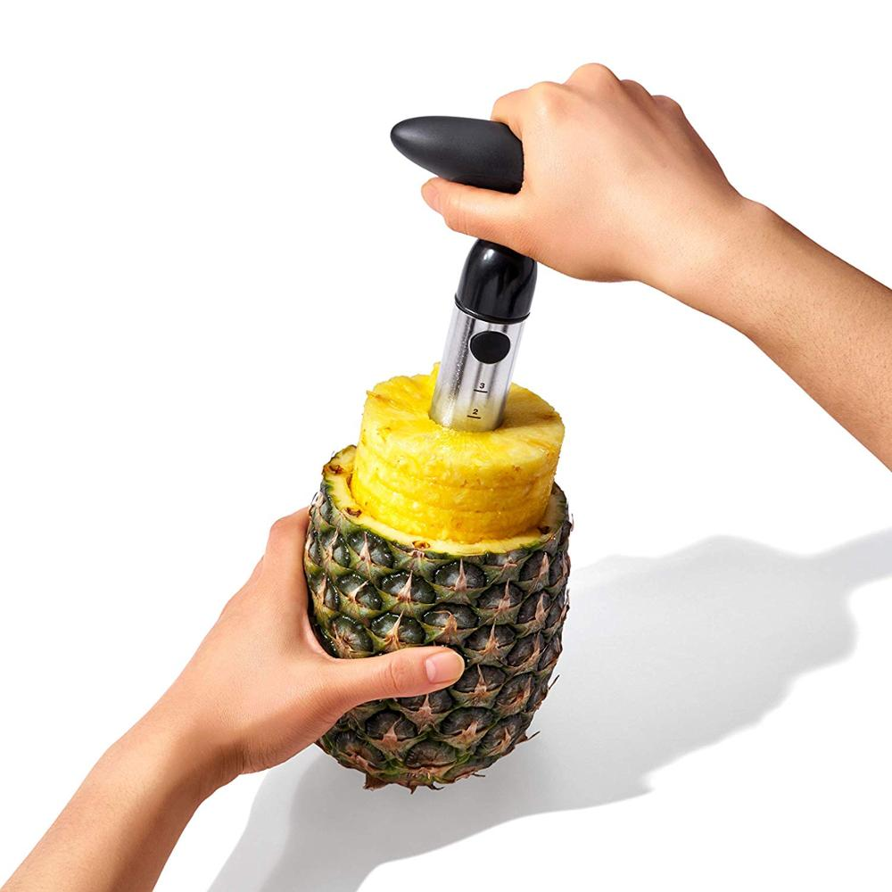 Food Grade Stainless Steel Kitchen Gadget Tool 304 Pineapple Peeler Slicer <strong>Cutter</strong>