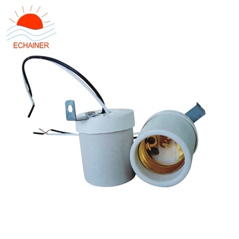 E27 porcelain ceramic lamp socket e27 lamp holder