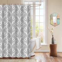 100% polyester European baroque design shower curtain thick decorative fabric shower curtain