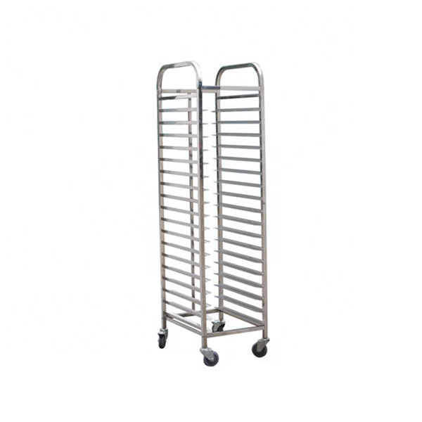 Commercial Stainless steel #304 industrial drying rack into hot oven with heat-resistant wheels