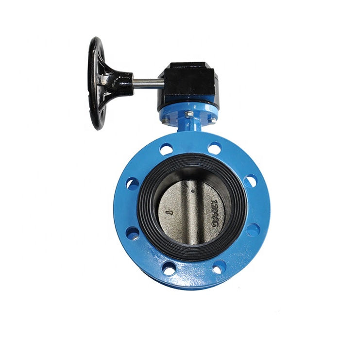 Ductile Iron Double Flange Concentric Resilient-Seated Butterfly Valve