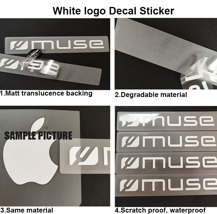 Genuine  OEM Authentic  White logo Decal Sticker 2 total stickers