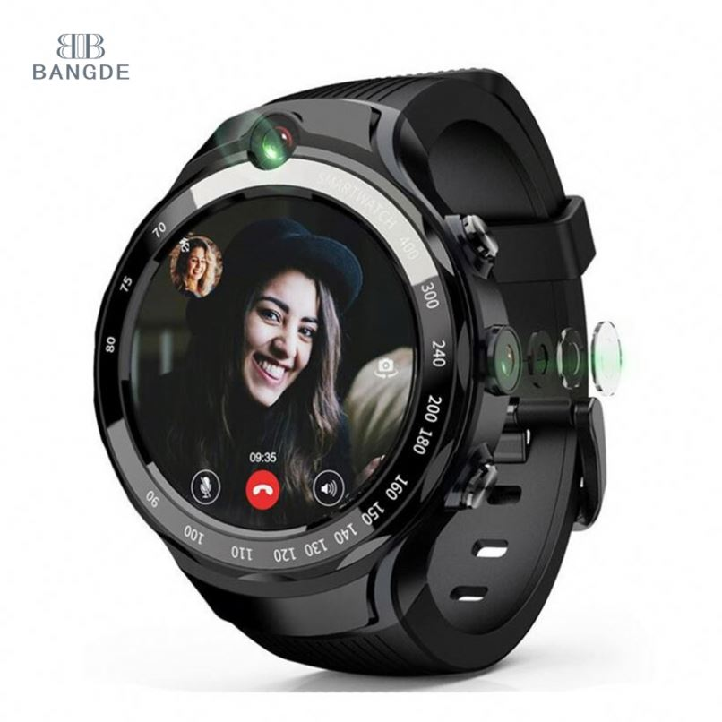 bd <strong>W100</strong> Dual 5MP Cameras 4G WiFi GPS Smart Watch 16GB Android Watch Phone Sports Smartwatches Dual 5MP Cameras WiFi GPS
