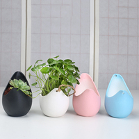 Creative simple ceramic figurine multi-small flower pot