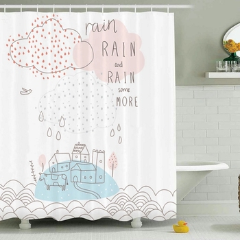 custom 3d 96 inch mold resistant shower curtain