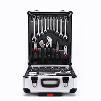 187pcs Tool Box Set With Home and Auto Repair Hand Tools in Aluminum Tool Case Kit