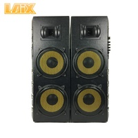 Laix DS-3 Wooden Case USB SD BT FM AUX MIC Input Disco LED Light Professional Audio Dual 8 10 12 15 inch Active Stage Speaker