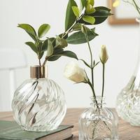Hydroponic Plants Office Home Decorate Ornaments Transparent Glass Flower Vase for table wedding party