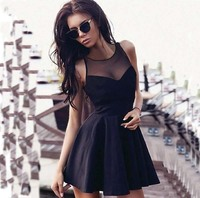 woman dress Spring sleeveless panel sexy dress woman