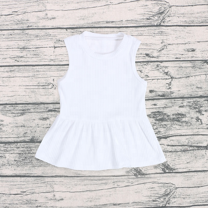 Wholesale ribbed baby clothing solid color clothes kids children infant sets