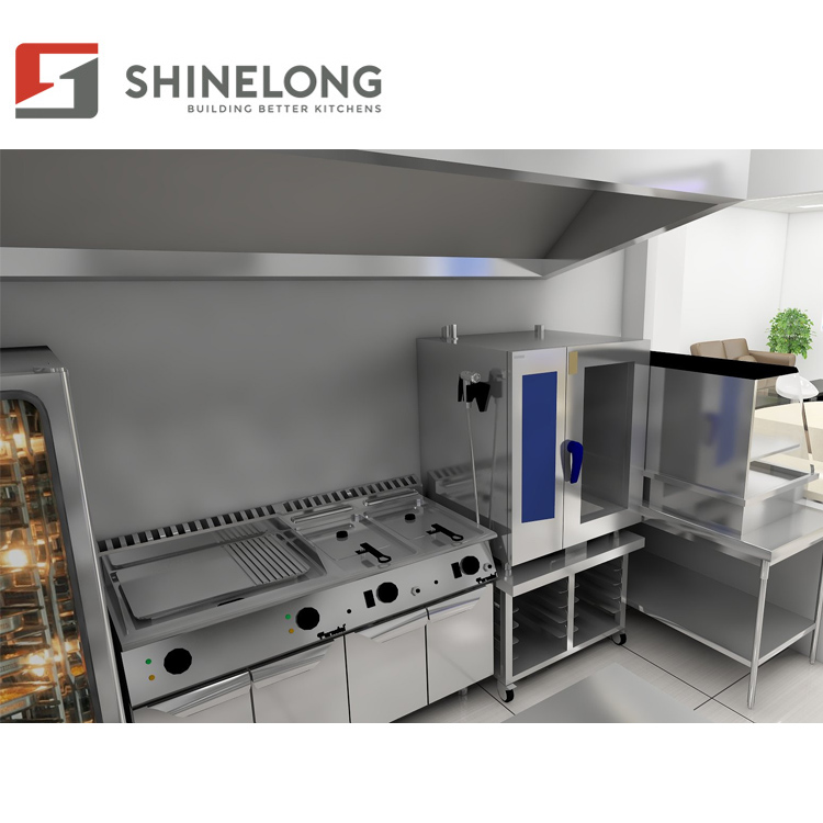 Commercial Industrial Hotel Restaurant Stainless Steel Buffet Set Kitchen Equipment Price List