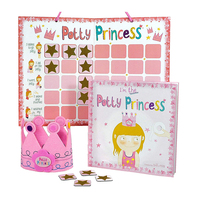 Customized magnetic Potty chart for girl/ kids star chart /training reward chart educational toys