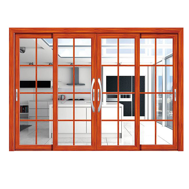 Interior Home Aluminum clear Glass Aluminum Double sliding door for villa
