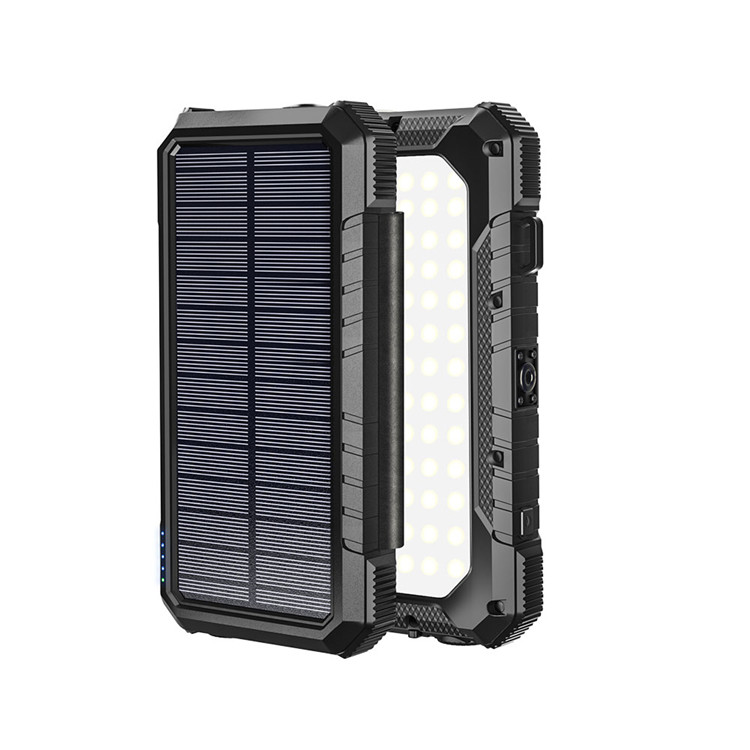 Hot Sale 20000mAH Quick Charging Input And Output Foldable Solar Charging Power Bank With Both <strong>LED</strong> Flashlight And Camping <strong>Light</strong>
