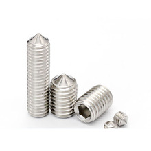 DIN914 Stainless Steel Hexagon Socket Set Screws With Cone <strong>Point</strong>