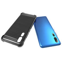 Carbon Fiber Four Corner Shockproof Soft TPU Case For ZTE Axon <strong>10</strong> Pro 5G