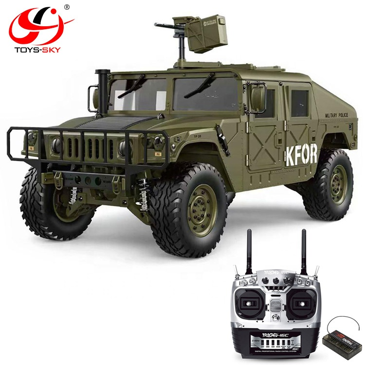 1/10 2.4G 4WD 16CH 30km/<strong>h</strong> U.S.4X4 Military electric Vehicle Best RC <strong>Cars</strong> Trucks HG P408 without Battery Charger