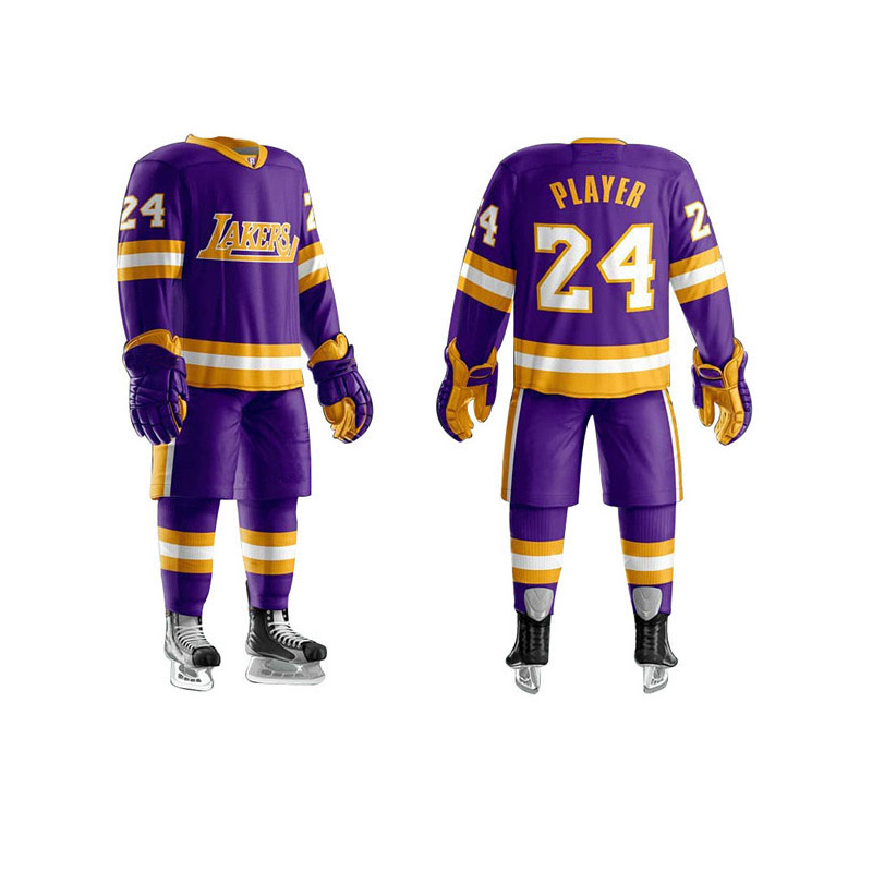 Custom Ice Hockey Uniform Reversible Sublimated Ice Hockey Jerseys