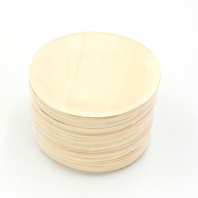 Amazon hot sale wooden bamboo palm leaf round sushi <strong>plate</strong>
