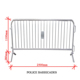 Hot Dipped Galvanized Police Barricades Welded Temporary Fence