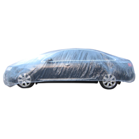 One-time Plastic Car Cover Full Coverage Cover 100% Waterproof Transparent