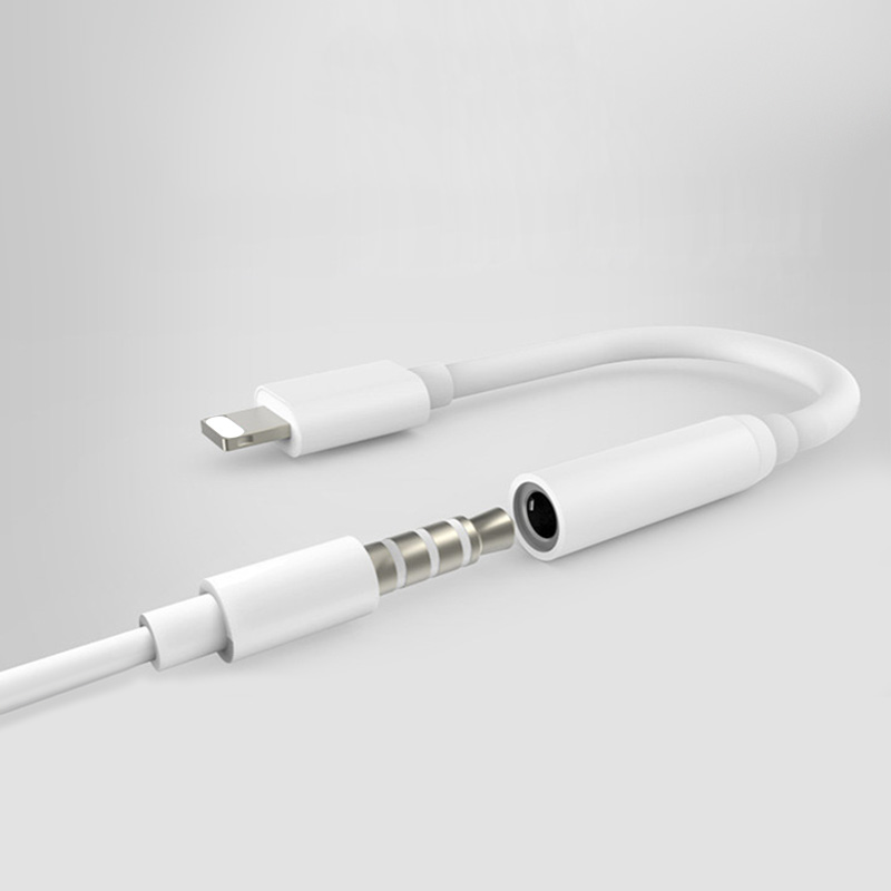 For iPhone to 3.5mm Adapter Earphone Headset Jack Adapter Audio Cable