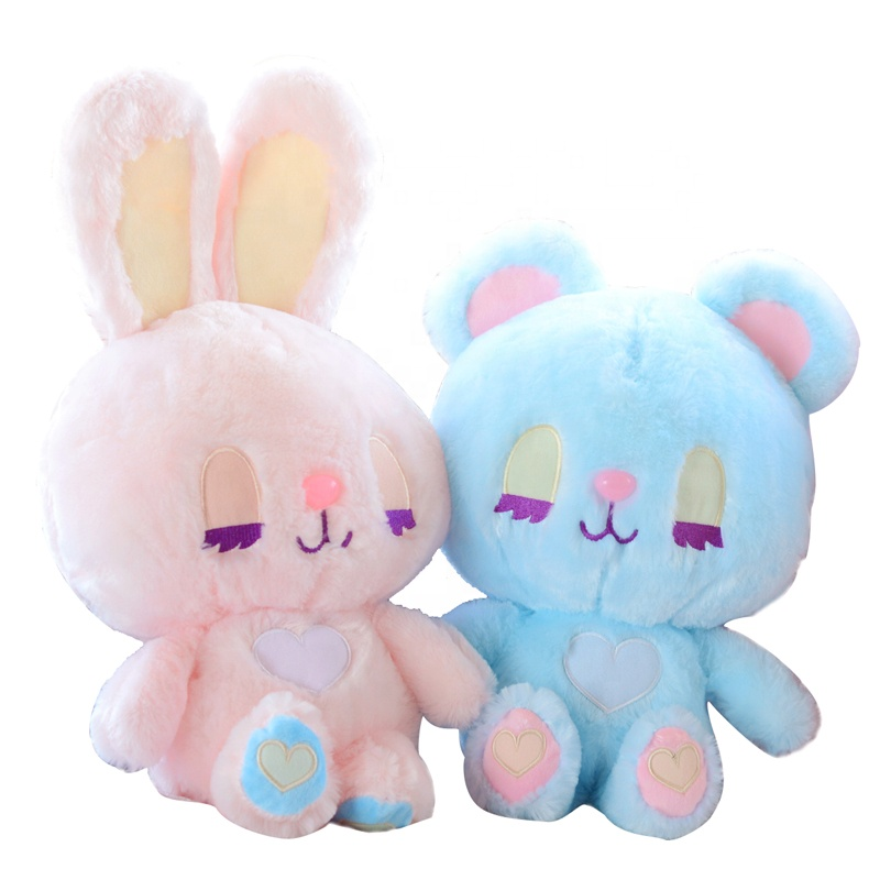cute pinkycolor bunny plush toy <strong>rabbit</strong> stuffed toys animal bear plush toy