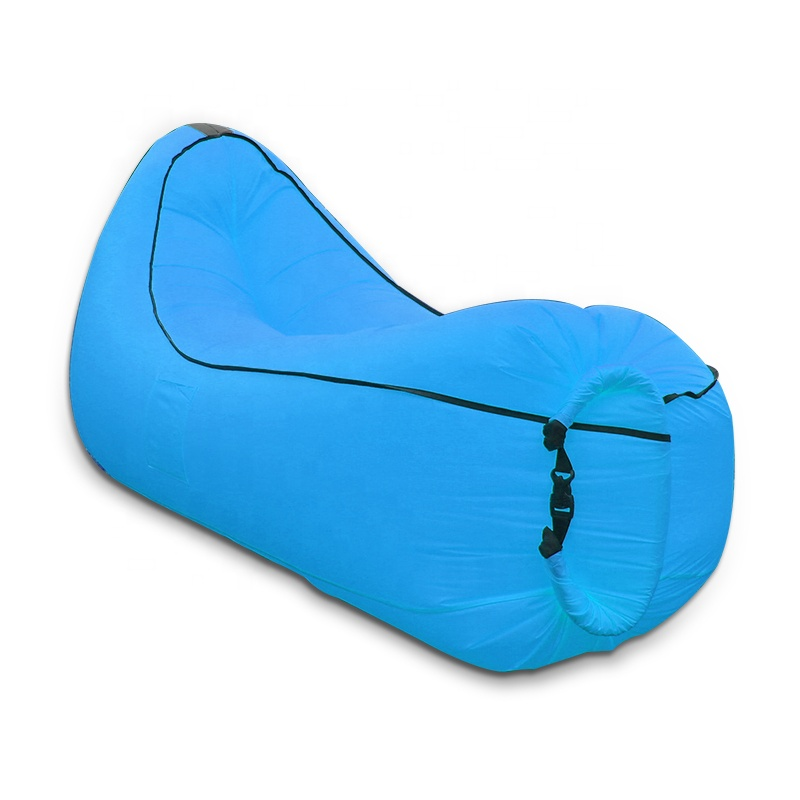 <strong>A08</strong> Made in shenzhen Outdoor inflatable banana shape air sofa sleeping bag
