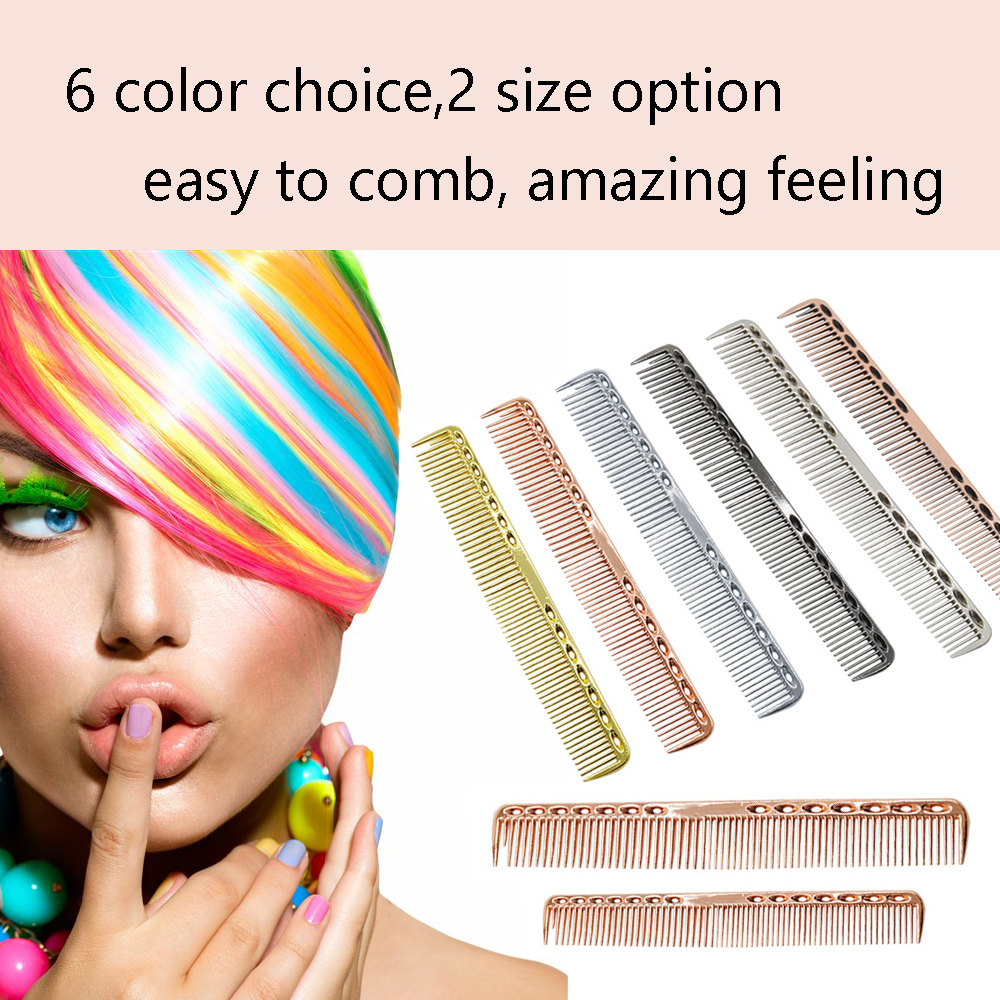 salon profession use New antistatic hairdressing bronze color cutting comb hair comb