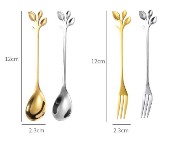 High Quality Portable 304 Stainless Steel Coffee Fork And Spoon Cutlery Set
