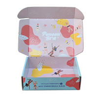 Full color print glossy waxed decorative corrugated carton gift shipping and mailing boxes