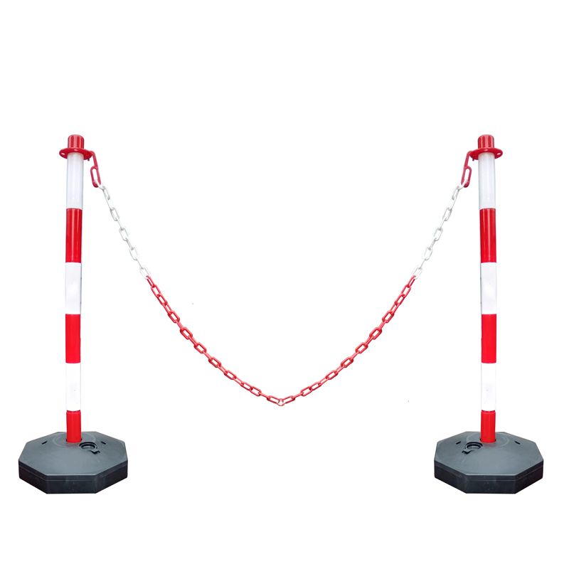 wholesale safety plastic parking lot chain barrier pole