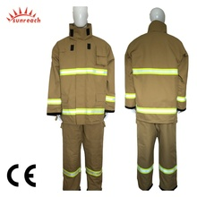 CE Certified Fireman Protective EN469 Rescue Flame Retardant Nomex Fire Fighting Suit for Fire Fighters