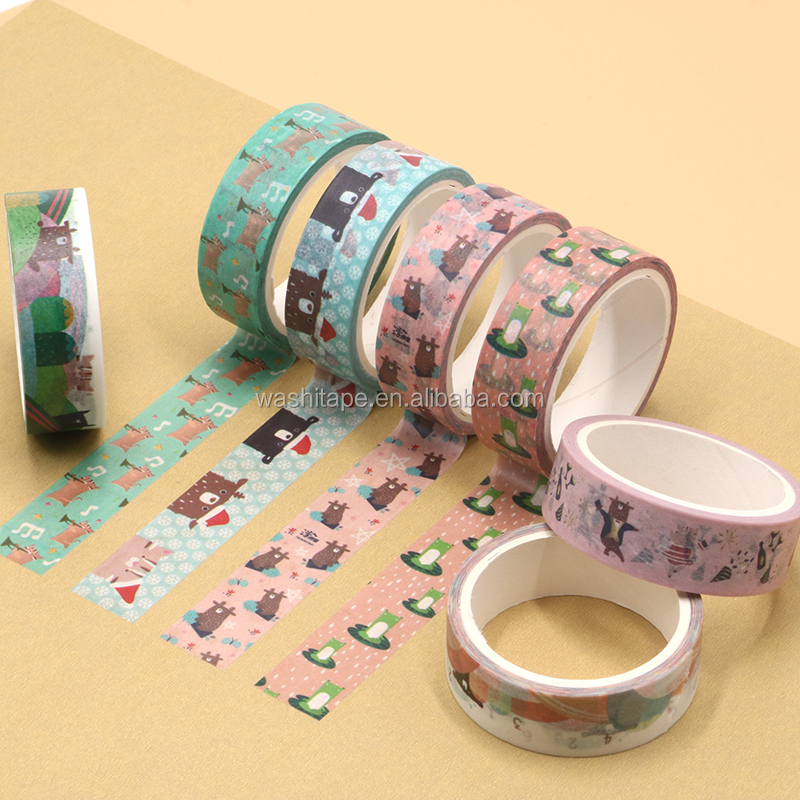 2 rolls set decorative japanese washi tape paper roll with package
