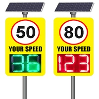 Factory direct solar radar led speed limit display sign for traffic Safety