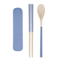 Biodegradable reusable wheat straw cutlery portable travel cutlery eco-friendly disposable plastic cutlery